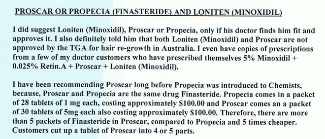 Dangers of propecia