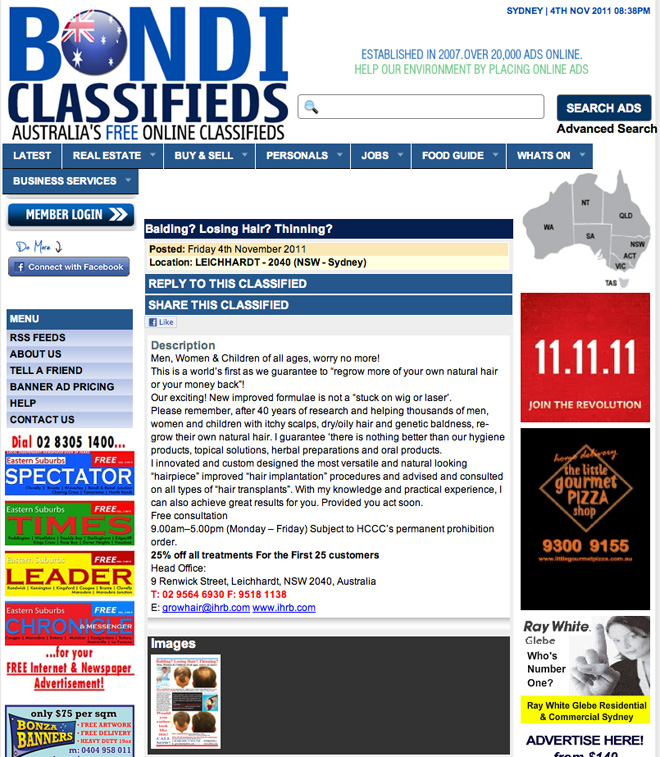 Bondi classifieds personals
