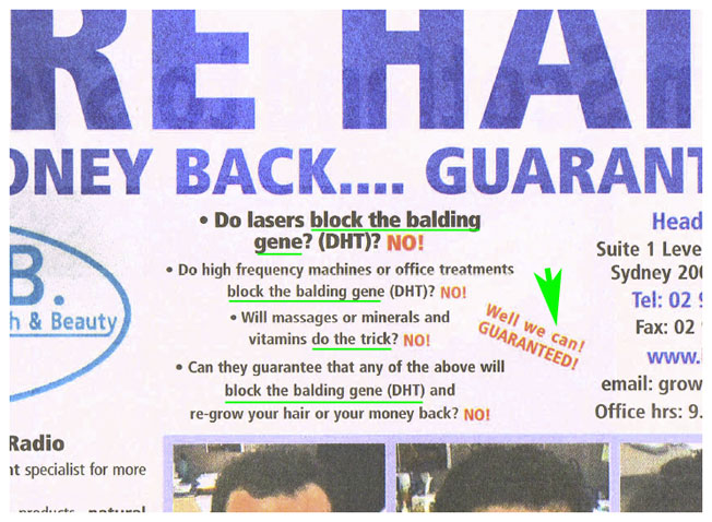 A typical advertisement by IHRB making wild claims which the Complaints Resolution Panel found of be unlawful, misleading, and unverified.