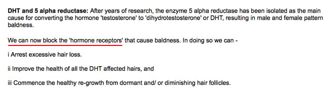 EXHIBIT 4: On IHRB's own website we read that that IHRB can now block the hormone receptors.