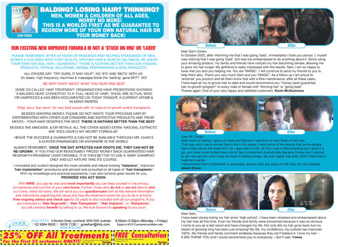 660 IHRB ads Appendix 20 My Local Magazine Dec 2011 IHRB double page spread ad