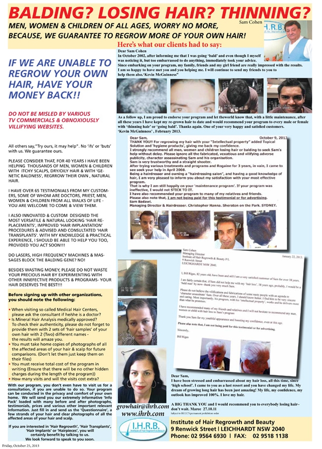 660 IHRB ads IHRB ad in Spectator 25 Oct 2013 Page 10