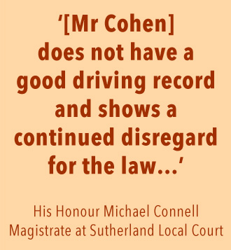 Magistrate Connell accuses Mr Sam Cohen of disregarding the law